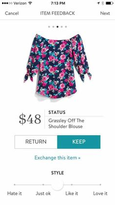 I don't usually like off the shoulder tops, but this is so cute! Love the colors, not sure about the off the shoulder, would depend on fit...SM