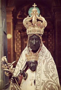 The miraculous Madonna of Tindari, Sicily.