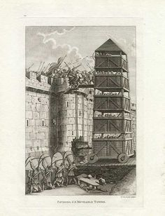 English Siege Tower - Siege Engine - Middle Ages