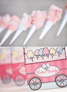 Super Cute Cotton Candy Shoppe Party..... something to do with stuffing?  I have the cotton candy machine!