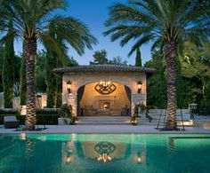 Outdoor swimming pool - 15 useful tips for garden pool and pergola Houses In Austin, Austin House, Spanish Colonial Homes, Pool Cabana, Enchanted Home, Beautiful Pools, Pool Accessories, Dream Pools, Celebrity Houses