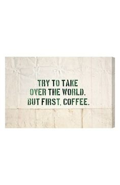Free shipping and returns on Oliver Gal 'Coffee' Wall Art at Nordstrom.com. A hand-stretched canvas that makes a chic design statement features a humorous message for the coffee addict.