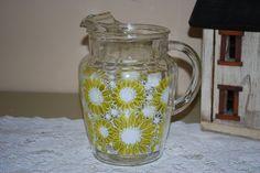 ~~Vintage Sunflower Anchor Hocking/FireKing Ice Lip Glass Pitcher~~
