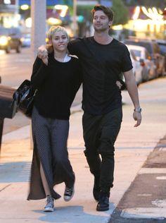 Miley Cyrus and Patrick Schwarzenegger Show PDA | Pictures | POPSUGAR Celebrity