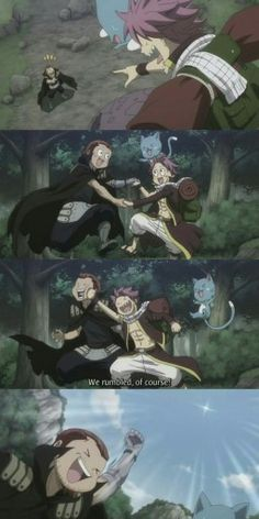 Fairy Tail - Gildarts & Natsu OMG! I laughed so hard at this scene!!!