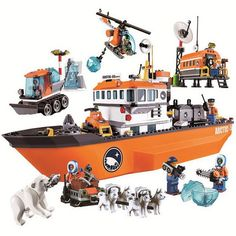 Cheap toys for, Buy Quality toys for children directly from China building blocks Suppliers: 10443 BELA City Polar Adventure Arctic Ice Breaker Ship Model Building Blocks Classic Figure Toys For Children Compatible Legoe