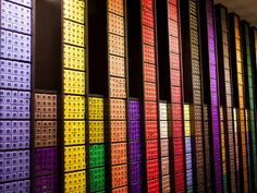A wall of Nespresso pods. Coffee heaven. The colours and every space filled with coffee pods creates an amazing finish to the display.