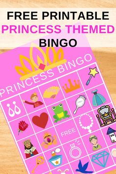 This set of princess bingo comes with 20 princess bingo cards and a calling card. Just enough princess bingo cards for a princess themed birthday party. So if you are looking for a princess birthday party activity idea, this would be the perfect princess birthday game for your little girls birthday party. Be sure to pin this to your birthday ideas board for future birthday parties. Be sure to head over to our blog, VanahLynn.com to see unicorn birthday invitations.