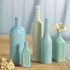 these could be made easily by spray painting any bottles