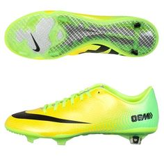 Nike Mercurial Vapor IX Firm Ground Football Boots Yellow, Purple