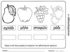 Ουράνιο Τόξο: Τα φρούτα του Φθινοπώρου Special Education, Seasons, Teaching, School, Blog, Crafts, Autumn, Greek, Google