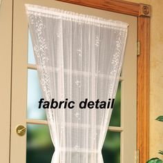 Sheer Divine Lace French Door Curtain Panels By Heritage Lace Need A Fresh  New Look For