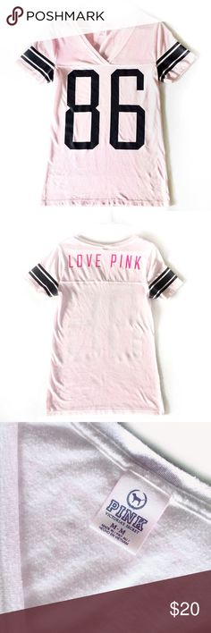 Victoria Secret PINK V-Neck T-Shirt This T-shirt has been gently worn and is in good condition. Please let me know if you have any questions! PINK Victoria's Secret Tops Tees - Short Sleeve