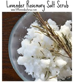 STRESSED?!?!?! This DIY Natural Lavender Rosemary Salt Scrub will soften any mood, and soften your skin! Exfoliate, moisturize, and relax.....