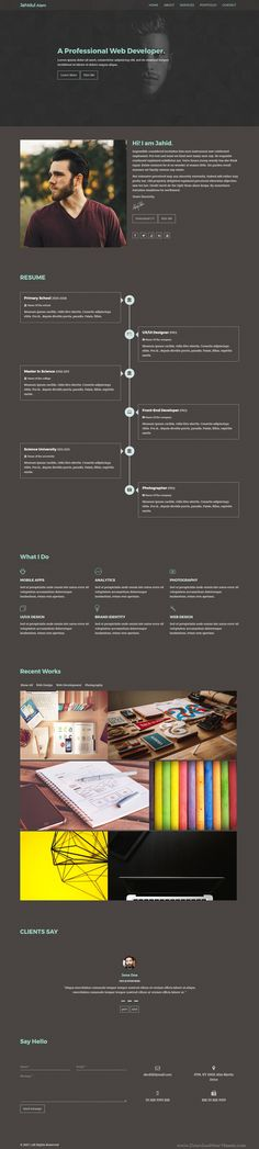 Sciento  Html Personal Page For Scientists  Template For Resume
