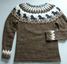Fair Isle Knitting Patterns, Fair Isle Pattern, Sweater Knitting Patterns, Knit Patterns, Free Knitting, Icelandic Sweaters, Pullover, Knitting Projects, Free Pattern