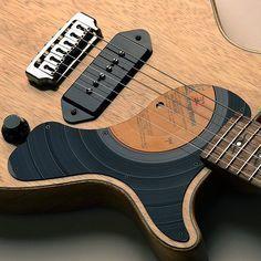 cigar box guitar with pickguard - Google Search