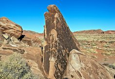 Petroglyphs in Painted Desert - Petrified Forest National Park.