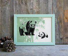 Panda print Pandas Printable Art Panda Gift Woodland