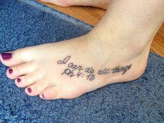 tattoo of philippians 4:13 | Philippians 4:13 tattoo