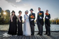 Looking for something a little bit different on your wedding day?  How about Top hats and Canes!  Love this style - what a beautiful Waterloo, Ontario wedding!