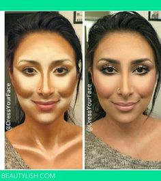 Contouring tricks for your face - a picture says a thousand words Take a look at our BB Flawless ($39) and concealers ($29) for the perfect combination for highlighting and contouring.