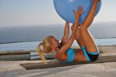 10 min Beginner Workout: Top 9 Stability Ball Exercises
