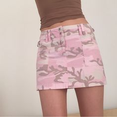 757a28f018 Back in stock - Baby pink high waisted camo mini skirt! Super cute  camouflage skirt