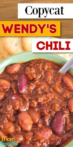 This copycat version of Wendy's Chili is the perfect comfort food on a chilly day. Make a big pot of this homemade chili and your family will thanks you.
