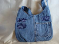 Denim upcycled bag by InnerCreativeChild on Etsy