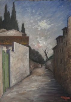 Ottone Rosai (Firenze 1896  -  Ivrea, Torino, 1957) Via di Santa Margherita a Montìci, 1933 ca