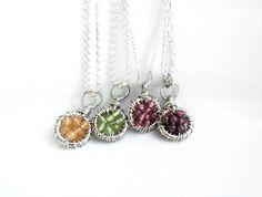 Gemstone  Pendant  Simple Necklace  Dreamcatcher  Full by Daniblu, $32.00