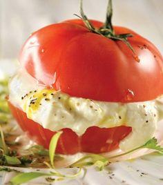 """Hamburguesa en jitomate""... ¡Delicias vegetarianas!"