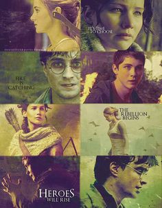I LOVE THIS EDIT. Harry Potter, Hunger Games, Percy Jackson, and Divergent ♥