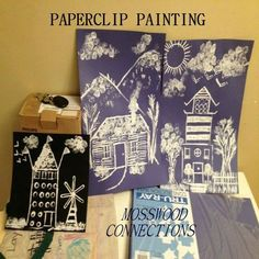 Paperclip Painting Art Activity Paperclip Painting is a fun art activity using household items as stamping tools.