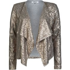 Longline Sequins Open Knit Cardigan ($50) ❤ liked on Polyvore ...