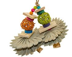 Rainbow Chippy Small Bird Toy Parrot Toy Wood by TheBestBirdToys Budgie Toys, Bird Toys, Parrot Pet, Parrot Toys, Small Birds, Pet Birds, Diy Chinchilla Toys, Diy Bird Cage, Budgies