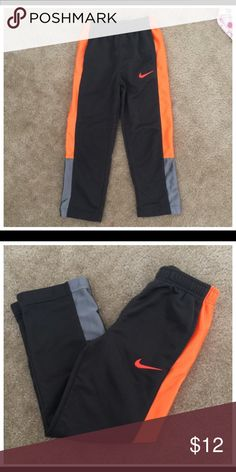 Nike Jogging Pants Nike Jogging Pants, orange and grey, good for sports wear, in great shape ✔️😆 Nike Bottoms Sweatpants & Joggers
