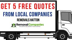 Removals Hatton - Get Your Free Quote Today