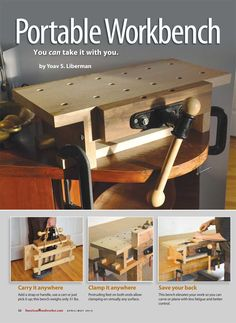 Woodworking is ideal for everyone. You could sharpen the woodworking skills of yours with the helpful tips of ours and techniques. These woodworking tips are actually for starting or perhaps pro DIYers. Go to the webpage to read more about woodworking. Portable Workbench, Workbench Plans, Woodworking Workbench, Woodworking Workshop, Woodworking Furniture, Woodworking Skills, Sketchup Woodworking, Garage Workbench, Woodworking Magazine
