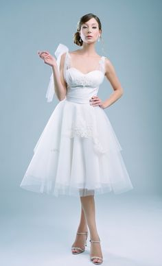 Short Wedding Dresses with Blue