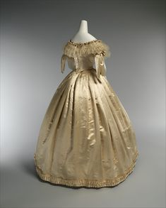 Wedding Dress; 1856-59 | In the Swan's Shadow