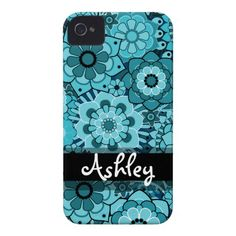 6ff15a9d49ae45 Retro Floral Pattern with Name Case-Mate iPhone 4 Case Best Iphone