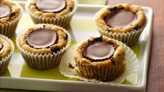 Gluten Free Chocolate Chip Peanut Butter Cups - Peanut butter-filled cookie cups made gluten free with Pillsbury® Gluten Free refrigerated chocolate chip cookie dough! They'll be asking for more!