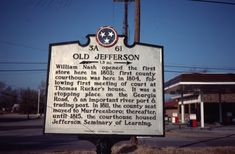 Although it is not noted on this plaque, the town was actually located on the historic Trail of Tears.