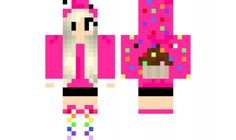 minecraft skin Cupcake-girl Find it with our new Android Minecraft Skins App: https://play.google.com/store/apps/details?id=studio.kactus.girlskins