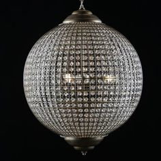 extra large gold globe chandelier
