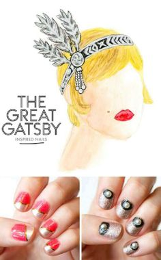 Great Gatsby Inspired Nails