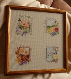 Le quattro stagioni Passione Ricamo ricamo di giuseppina ceraso  crocettando http://crocettando.wordpress.com