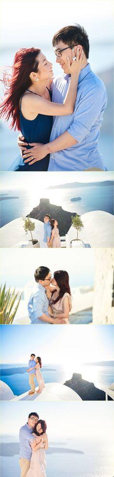 Chen Vivier honeymoon in Santorini by Giota Zoumpou PhotostudioGT Chen, Santorini, Photo Sessions, Movies, Movie Posters, Films, Film Poster, Cinema, Movie
